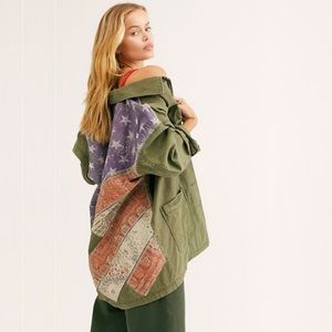 NWT Free People Spruce Military Shirt Jacket Army